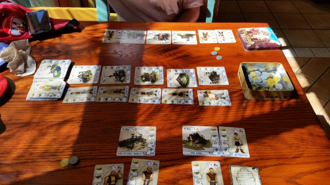 The game takes up about as much space as our meal had and was far, far less caloric.