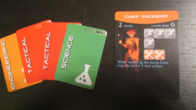 The Chief Engineer, everyone's new best friend.  Get her those orange Engineering cards or die trying!