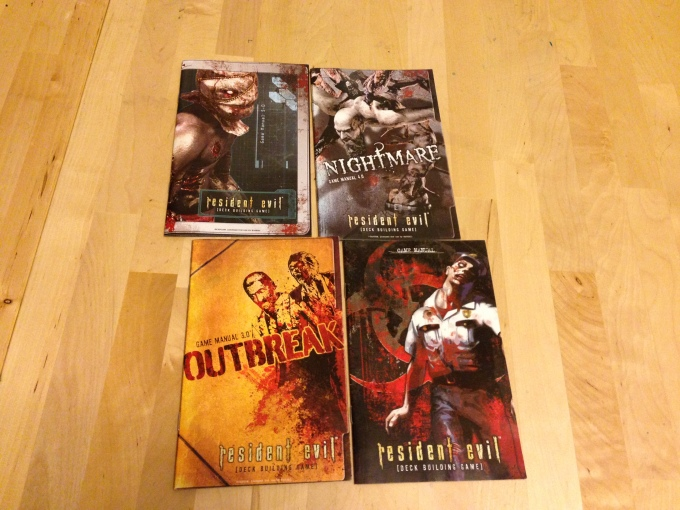 Clockwise from top-left: Mercenaries, Nightmare, Core Set, Outbreak