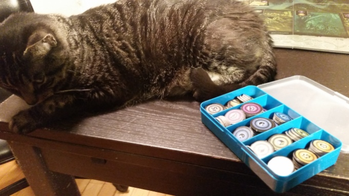 Token organization is not included, but is recommended. Peanut is also not included, though she is also recommended.