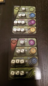 The two faces of the scenario card, each with a different conversion rate for otherwise-failed turns