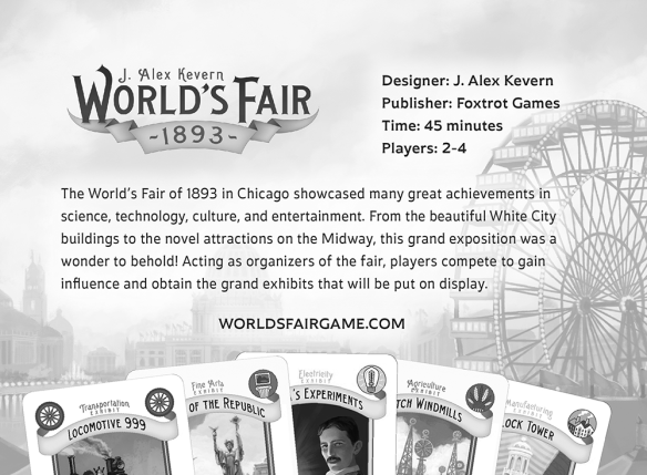 Back of Gen Con postcard for Worlds Fair 1893