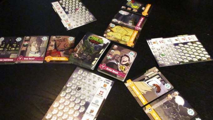 Set up for a 3-player game.